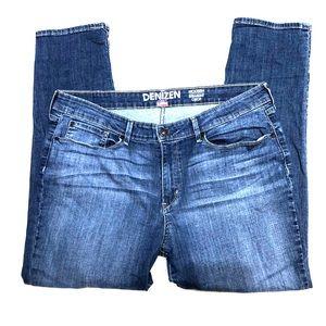 Levi's Denizen Modern Straight Crop Blue Jeans 16